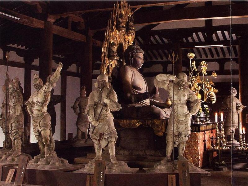 shin-yakushiji temple budda guardians