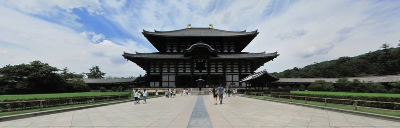 panorama todaiji temple nara