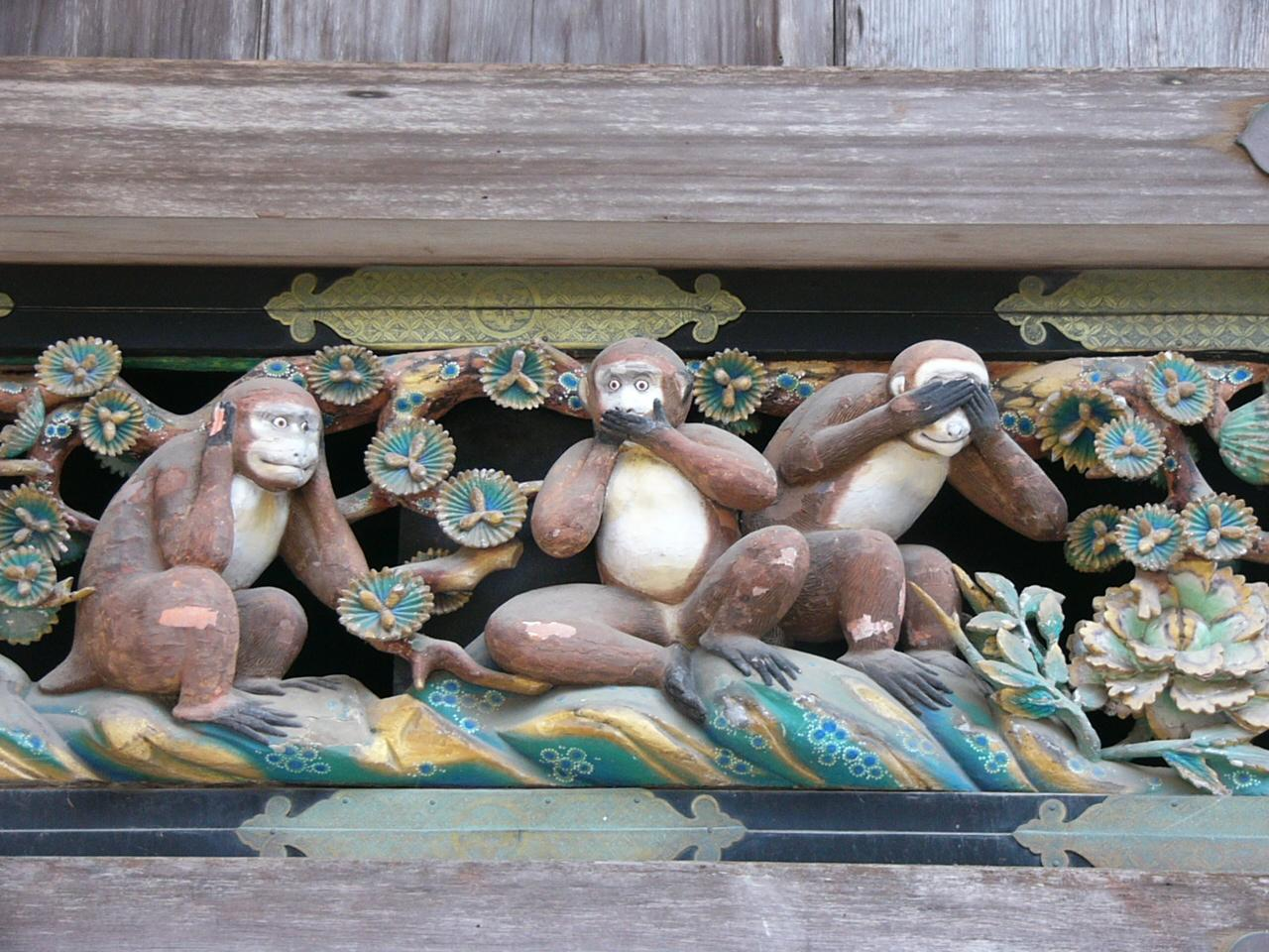Tosho-gu Shrine Nikko  tosho-gu shrine Tosho-gu Shrine, Nikko three wise monkeys