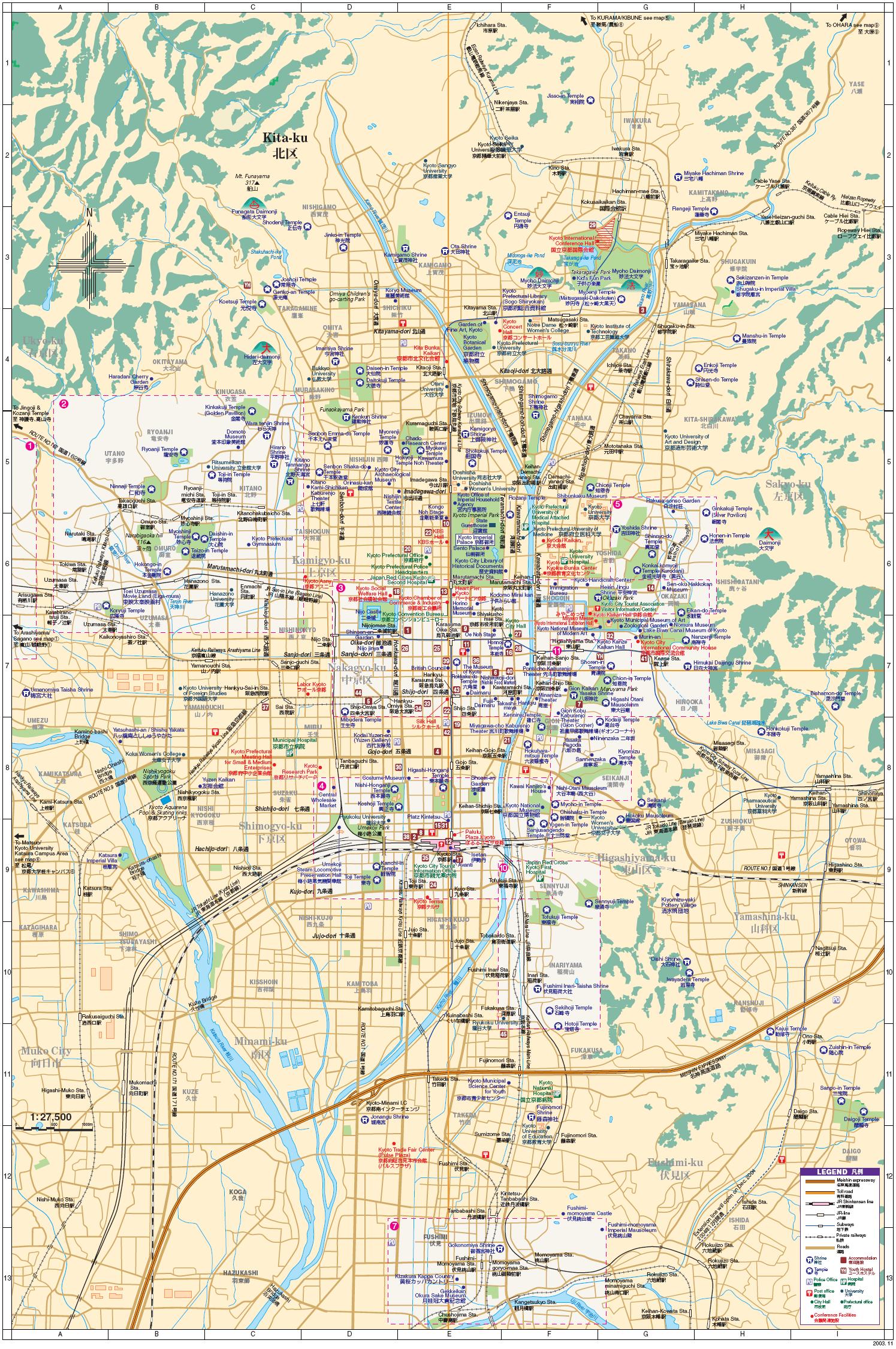 Download Kyoto maps - youinjapan.net on