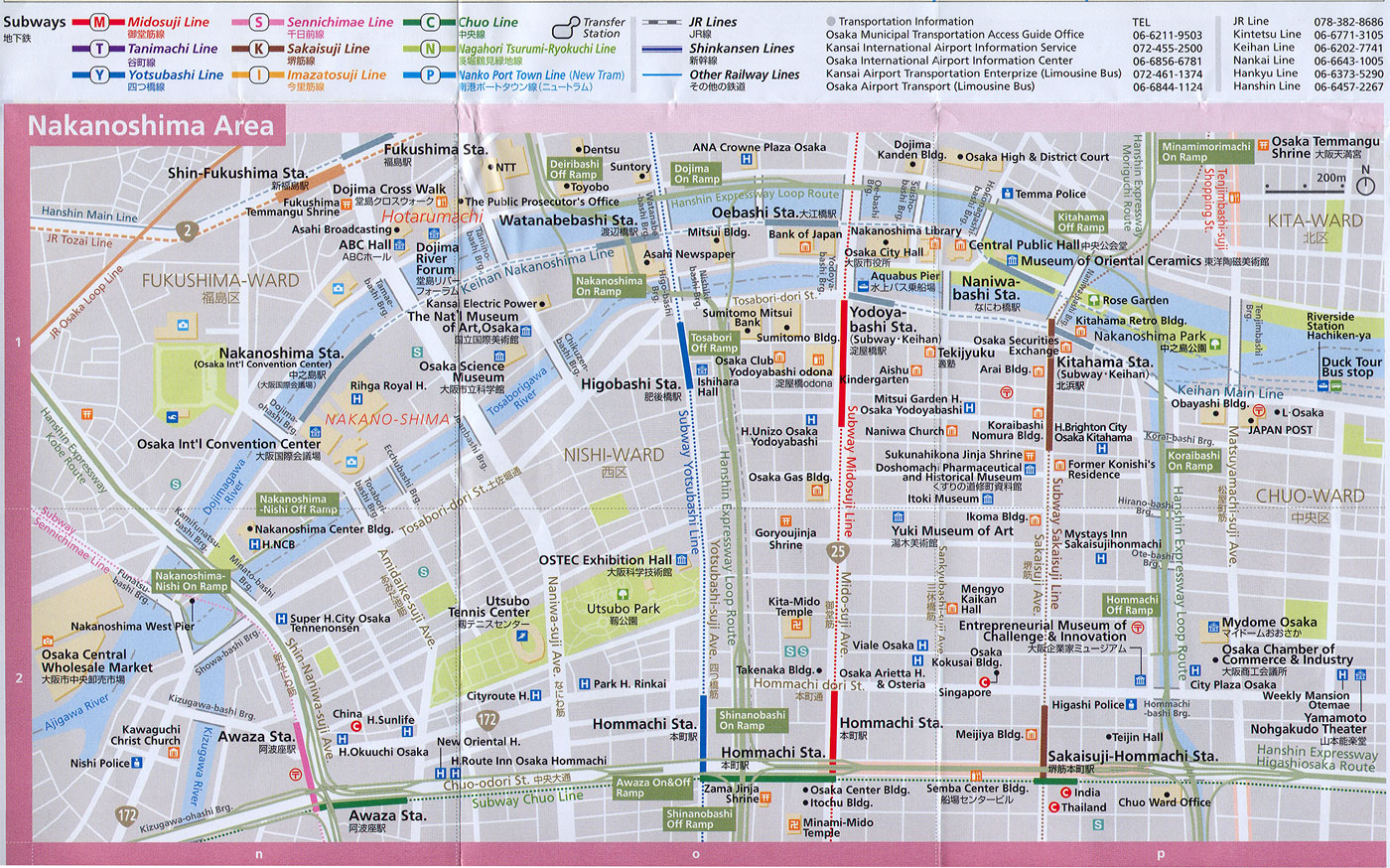 Download Osaka Maps Youinjapannet - Japan jr map osaka