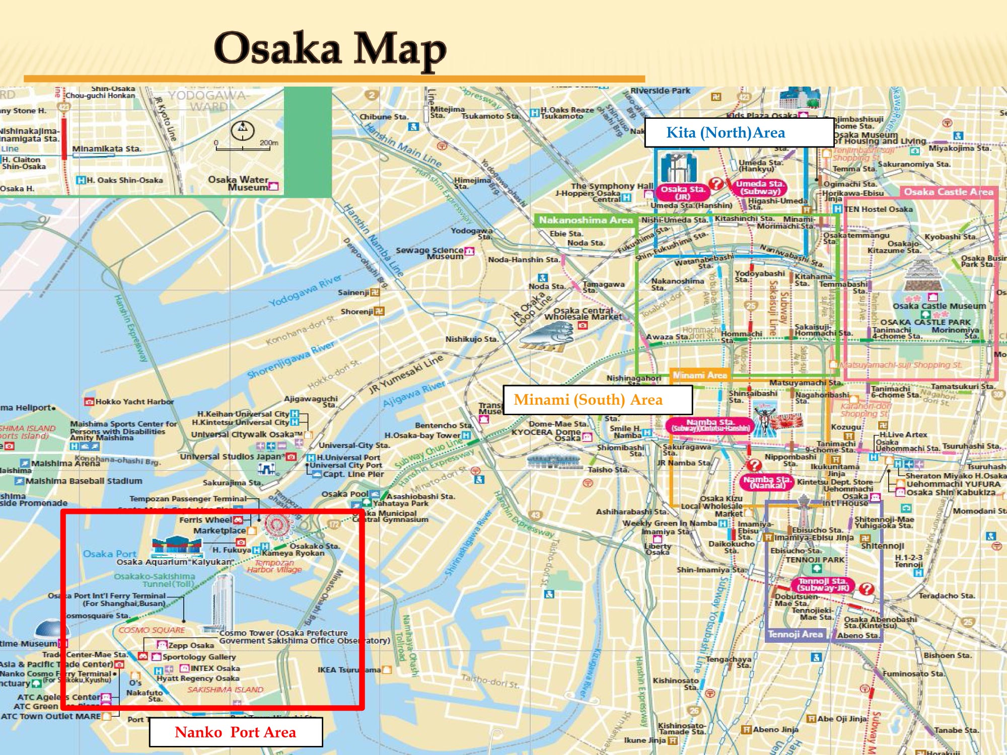 Download Osaka Maps Youinjapannet - Japan map center