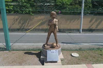 estatua de tsubasa oozora tokyo