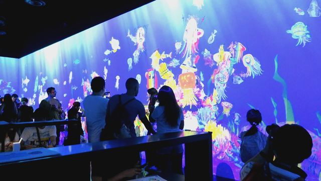 Digital Art Museum Teamlab Borderless, Sketch Aquarium
