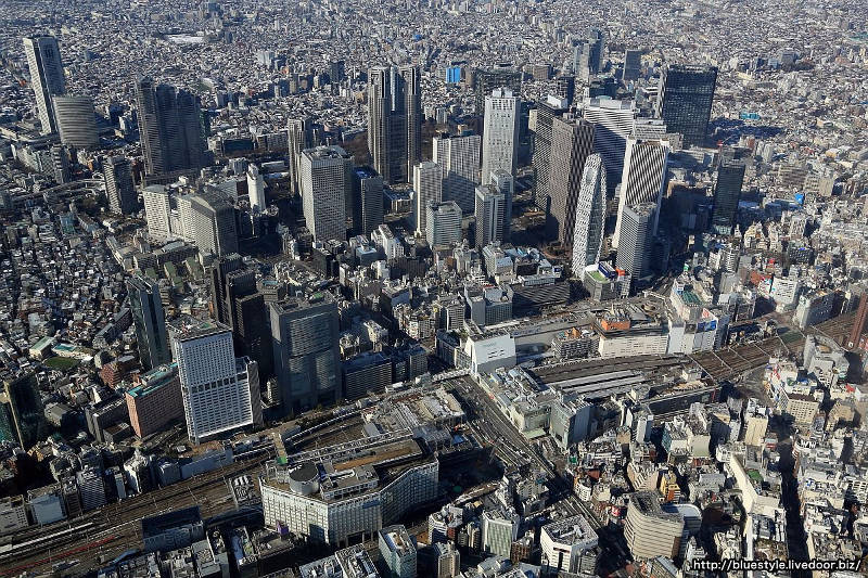 west shinjuku from above
